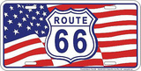Rt 66 Us Flag - Metal Tabela