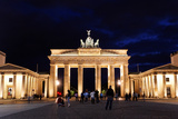 Brandenburg Gate at Night in Berlin Posters by  Gary718