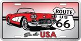 See The Usa Corvette Blikskilt
