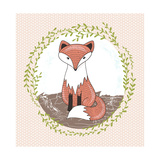Cute Little Fox Illustration for Children. Prints by cherry blossom girl
