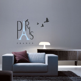 Spirit Of Paris Blue Wall Decal