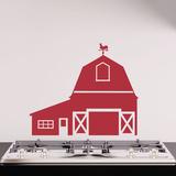 Big Red Barn Wall Decal