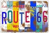 Route 66 States Plechová cedule