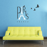 Spirit Of Paris White Wall Decal