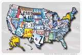 Usa Lp Map Tin Sign