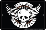 Real Men Placa de lata