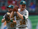 Sep 28, 2014: Arlington, TX - Oakland Athletics v Texas Rangers - Sonny Gray Photographic Print by Ronald Martinez