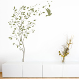 A Windy Spring Grey Wall Decal