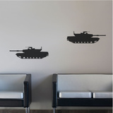 M1A1 Abram Tanks Black Wall Decal