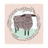 Cute Little Sheep Illustration for Children. Posters by cherry blossom girl
