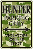 Hunter Camo Tin Sign