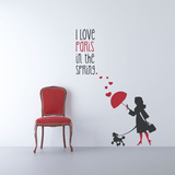 A Paris Spring Black Wall Decal