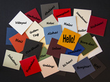 Hello, Bonjour, Nichiwa! Hello in Different Languages - Sign / Poster for Business or Pr. Photographic Print by  EdSamuel