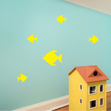 Tropical Fish Yellow Wall Decal