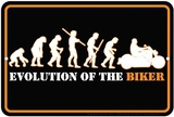 Evolution Of The Biker Tin Sign