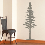 Spruce Tree Grey Wall Decal
