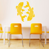 Koi Fish Yellow Wall Decal