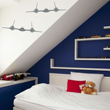 Sr-71 Blackbird Planes Grey Wall Decal