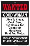 Wanted Boat Blikskilt