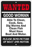 Wanted Boat Tin Sign