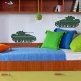 Bradley Fighter Tanks Green Wall Decal