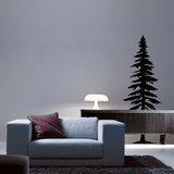 Spruce Tree Black Wall Decal