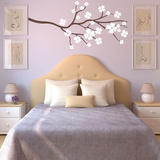 Clover Branch White Wall Decal