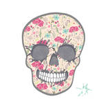 Cute Skull with Floral Pattern. Skull from Flowers. Premium Giclee Print by cherry blossom girl