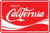 Enjoy California Tin Sign