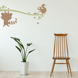 Woodland Pals Light Brown Wall Decal