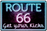 Route 66 Neon Tin Sign