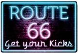Route 66 Neon Tin Sign