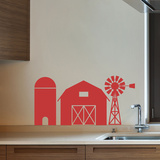 Farmer Brown Red Wall Decal