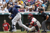 Tampa Bay Rays v Cleveland Indians Photographic Print by David Maxwell