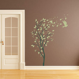 A Windy Spring Green Wall Decal