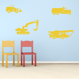 Trucks And Tractors Yellow Wall Decal