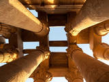 Columns of Kom Ombo Temple in River Nile, Egypt Photographic Print by  Asier