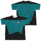 Youth: Star Trek - Science Uniform Costume Tee (Front/Back Print) T-shirts