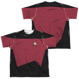 Youth: Star Trek - Command Uniform Costume Tee (Front/Back Print) Vêtements