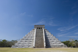 Mexico, Yucatan Peninsula, Yucatan, Chichen Itza, Kukulkan Pyramid Photographic Print by Adam Crowley