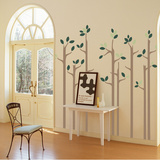 Skinny Trees Wall Decal