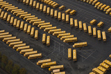 School Buses in Parking Lot, from Above Photographic Print by John & Lisa Merrill