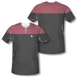 Star Trek Voyager - Command Uniform Costume Tee (Front/Back Print) T-Shirt