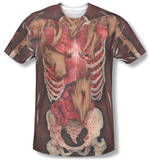 Skinny Zombie Costume Tee Sublimated