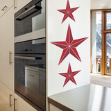 Nautical Stars Red Wall Decal