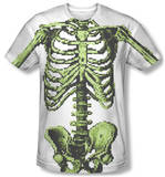 8-Bit Skeleton Costume Tee T-shirts