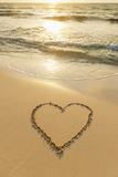 Mexico, Yucatan, Heart Drawn in Sand on Beach Fotoprint av Tetra Images