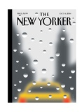 Rainy Day - The New Yorker Cover, October 6, 2014 Regular Giclee Print by Christoph Niemann
