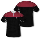 Star Trek Voyager - Command Uniform Costume Tee (Front/Back Print) Vêtements