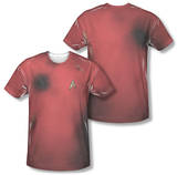 Star Trek - Dead Red Costume Tee (Front/Back Print) Sublimated